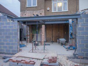 back porch under construction